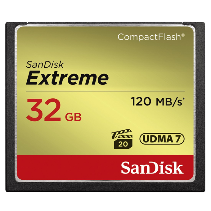 CF Extreme 32GB 120MB/s / 85MB/s Sandisk