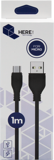 Cable MicroUSB 1m HERE!