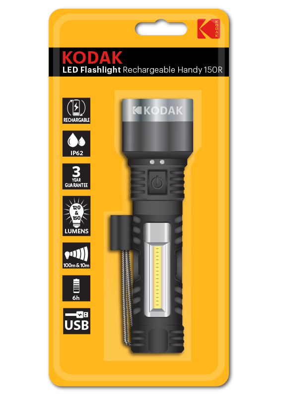 Linterna LED Handy150R Recargable, 150Lm, IP62 Kodak