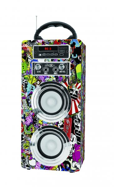 Altavoz/ Karaoke C/Radio/Bluetooth/USB/ SD Sticker Hamann